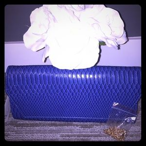 NWT oversized envelope style clutch with chain